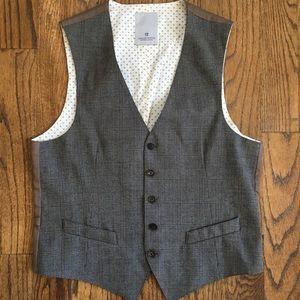 NWOT Scotch & Soda 5 Button Plaid Vest